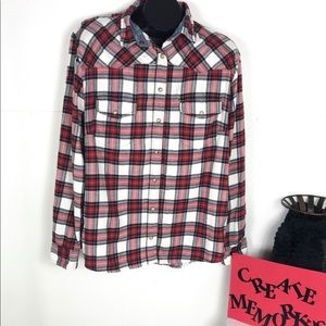 JACHS Girlfriend Flannel Shirt Women's XXL